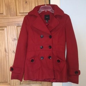 Forever 21 red pea coat❤️